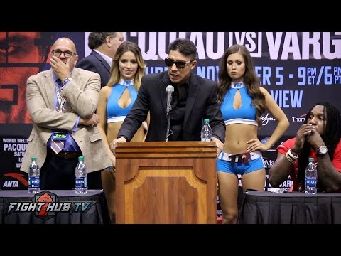 Manny Pacquiao vs Jessie Vargas Full Post Fight Press Conference video