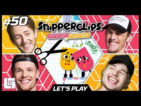 SNIPPERCLIPS met Enzo, Milan, Jeremy en Pascal | Let's Play | LOGS2 #50