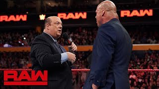 Paul Heyman answers Kurt Angle's ultimatum: Raw, July 16, 2018