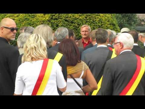 Visite du Roi Philippe à Loncin le 3 août 2014