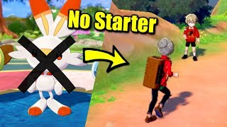 What happens when you leave Town without a Starter Pokémon in Sword & Shield?