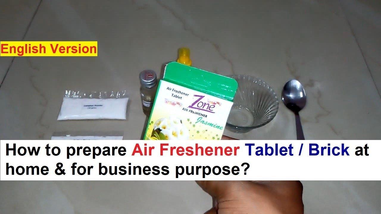 Air Freshener Tablet Making 100% Real Formula