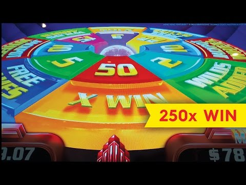 Super Wheel Blast Slot - 250x ALMOST JACKPOT - Hong Kong Fortunes! - 동영상