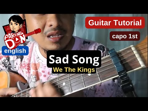 Guitar tutorial: Sad Song chords (w/ capo) We The Kings acoustic