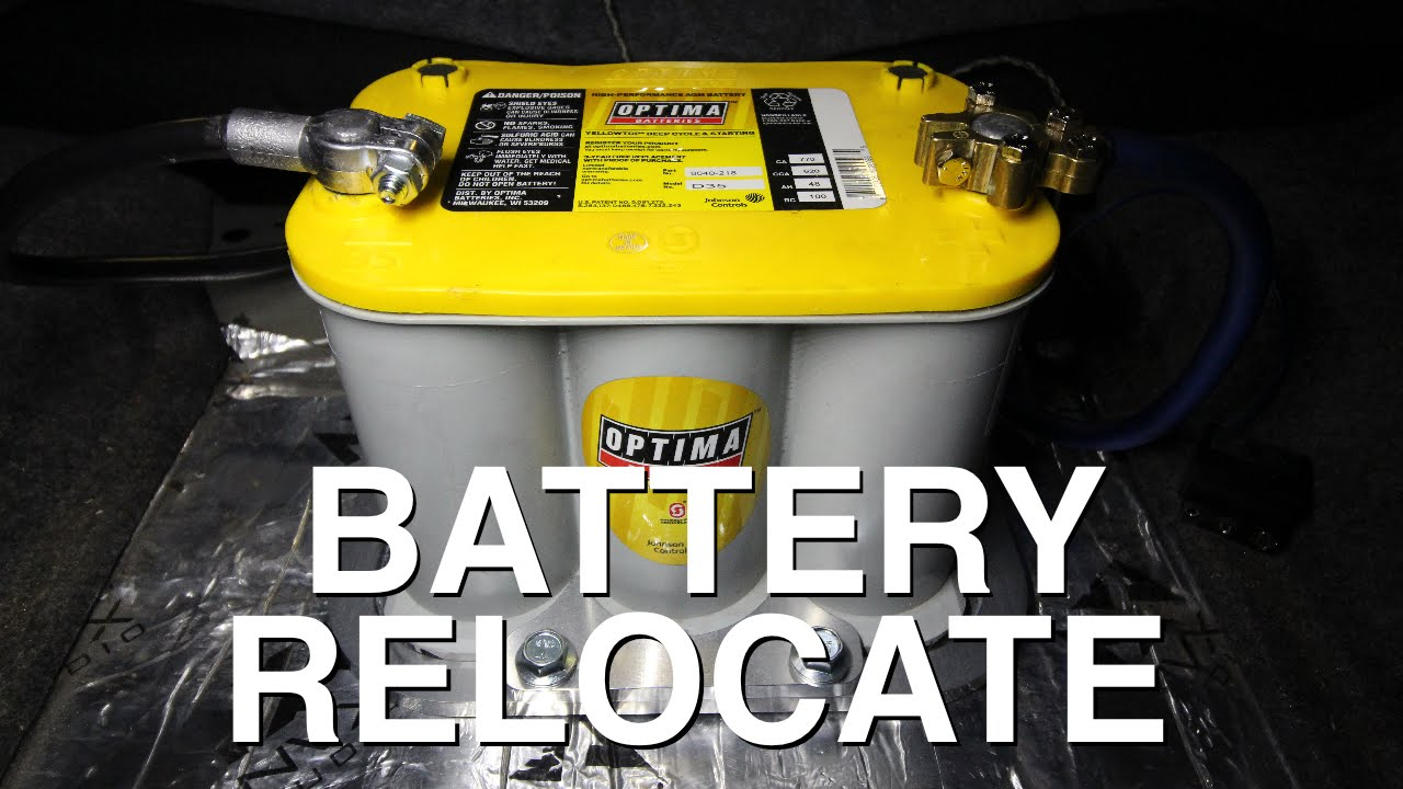 how to relocate your battery to your trunk