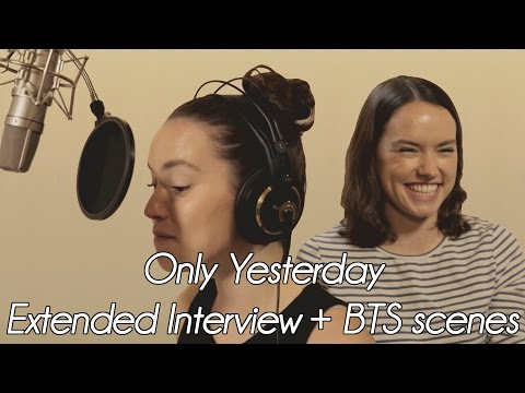 Daisy Ridley 'Only Yesterday' BTS look    2016