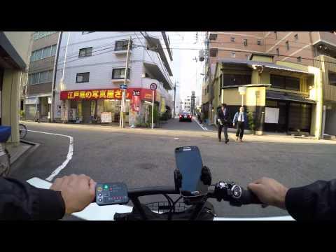 Cycling in Osaka : Nakatsu _ Ōyodominami _ Fukushima _ Nishi Ward _ Yotsuhashi-suji _ Bingomachi