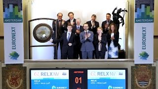 CFO marks name change from Reed Elsevier to RELX by sounding gong