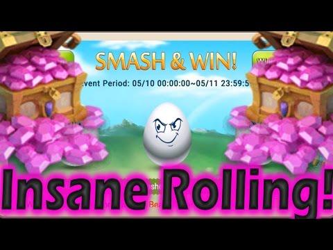 New Best Gem Rolling Video? Cracking 36 EGGS Castle Clash