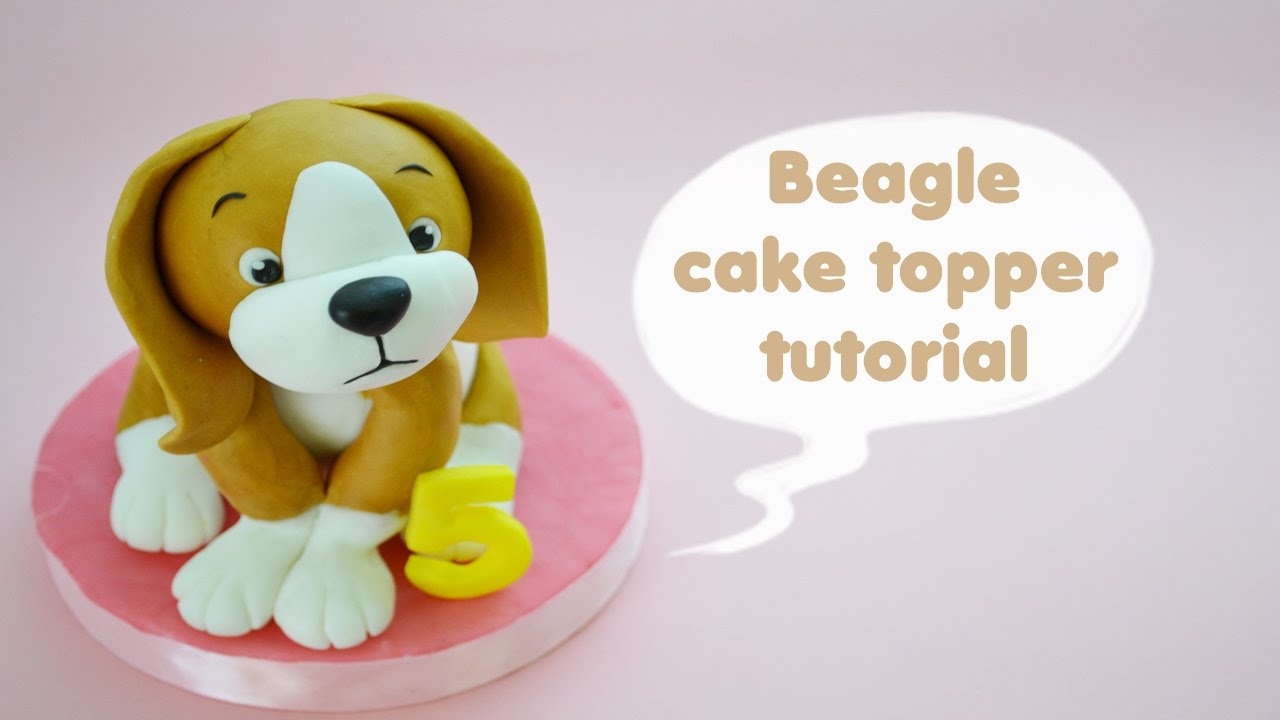 Beagle Wedding Cake Topper