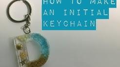 UV Resin - ocean themed initial letter keychain