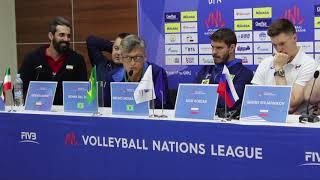 Лига Наций в Уфе. Пресс-конференция наставников и капитанов команд-участниц