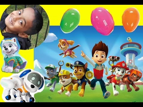Paw Patrol Opening Blind Bags Rider RoboDog Everest Chase Marshal Rubble Bloopers Fun Hunter Kids