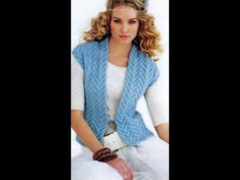 Вязание спицами. Кардиганы модели 2014-2015 - YouTube