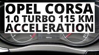 Opel Corsa 1.0 Turbo 115 hp (MT) - acceleration 0-100 km/h