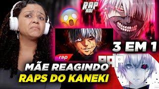 MINHA MÃE REAGINDO AOS Raps do Kaneki (Tokyo Ghoul) | 7 Minutoz, VMZ e AniRap