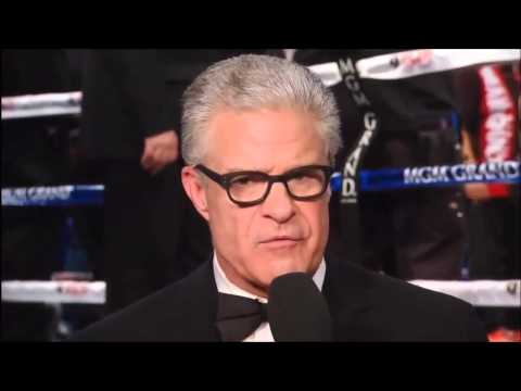 Emotional speech from Jim Lampley after 'Marquez  Pacquiao IV'