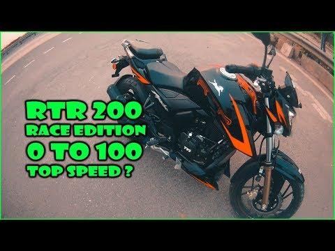 Apache RTR 200 Race Edition 2.0 | Test Ride | 0-100 | MVisualFilms