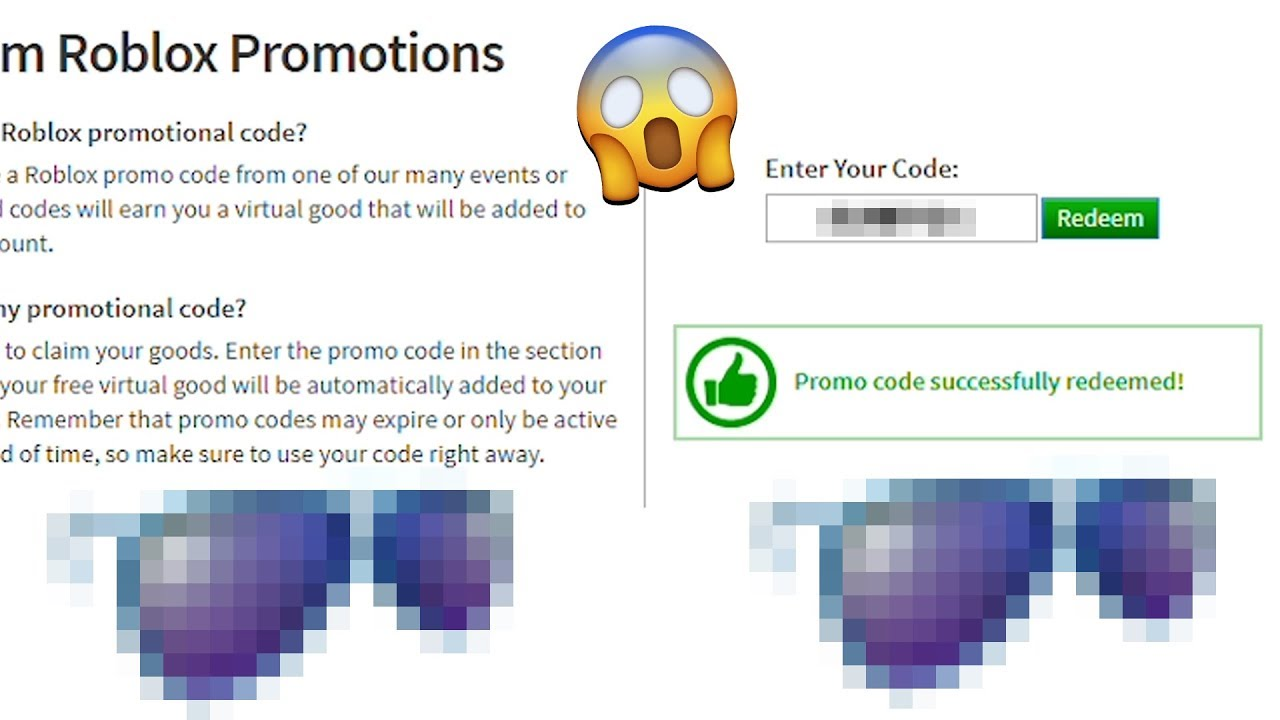 NEW ROBLOX PROMO CODE! *FREE SHADES!* - YouTube on Promo Code Roblox id=34393