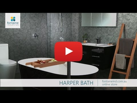 Harper Freestanding Black Bath Tub Bathtub Designer 1500 1700 [fontaineind.com.au]