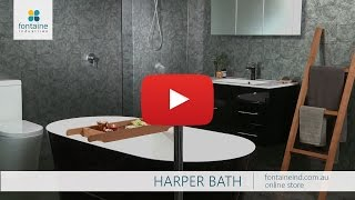 1500 1700 Harper Duran Siyah Küvet Küvet Tasarımcı [fontaineind.com.au]