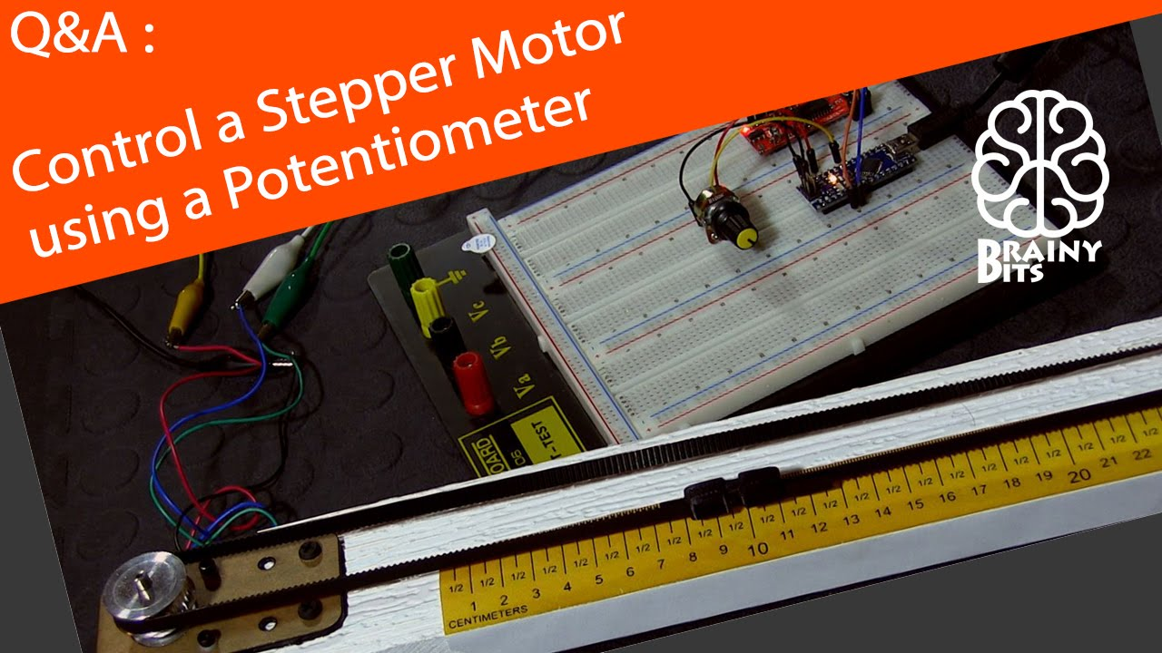 How To Control A Stepper Motor With An Arduino Using Potentiometer Wiring Tutorial Youtube
