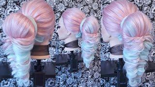 Вечерняя причёска с валиком(, 2016-06-21T15:01:37.000Z)
