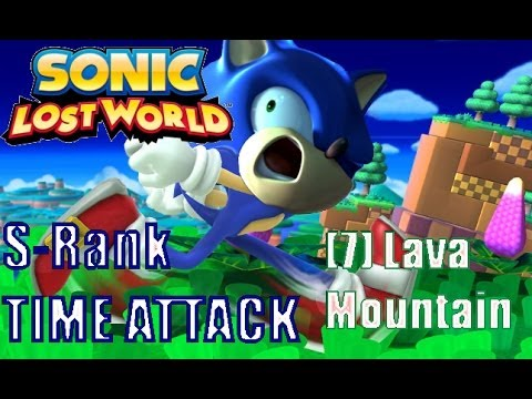 Sonic Lost World: Time Attack S-Rank - Lava Mountain Zone