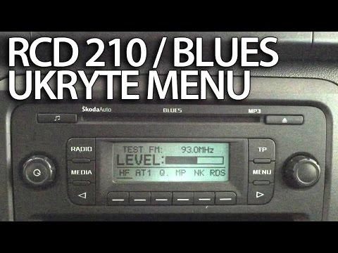 Ukryte menu diagnostyczne VW RCD 210 / Skoda Blues radio (Golf Polo Fabia Caddy Jetta)
