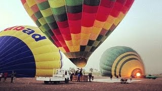 fall of the balloon tourism in Luxor