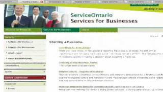 how to register or incorporate a business in Ontario