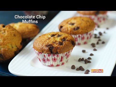 Chocolate Chip Muffins Recipe | Homemade | Oven | Ventuno Home Cooking