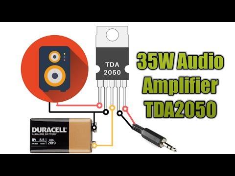 35w audio amplifier with single tda2030a tda2050 ic youtube Transistor Amplifier Circuit Diagram