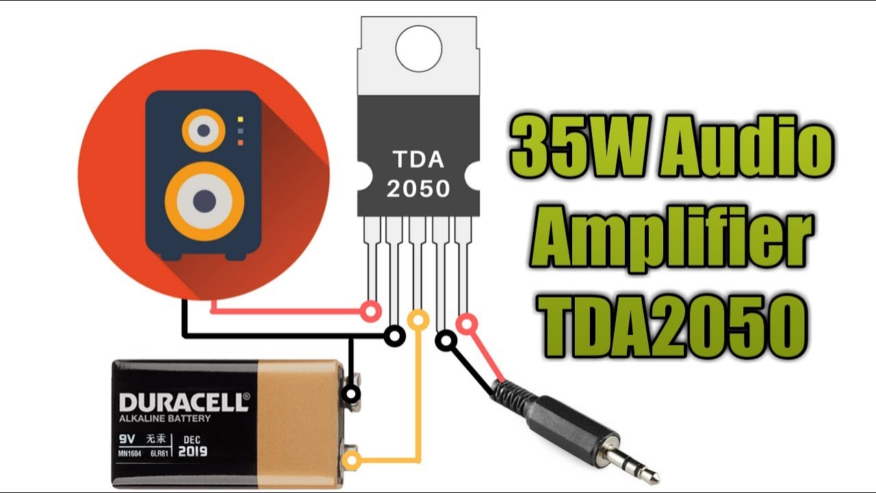 small resolution of 35w audio amplifier with single tda2030a tda2050 ic