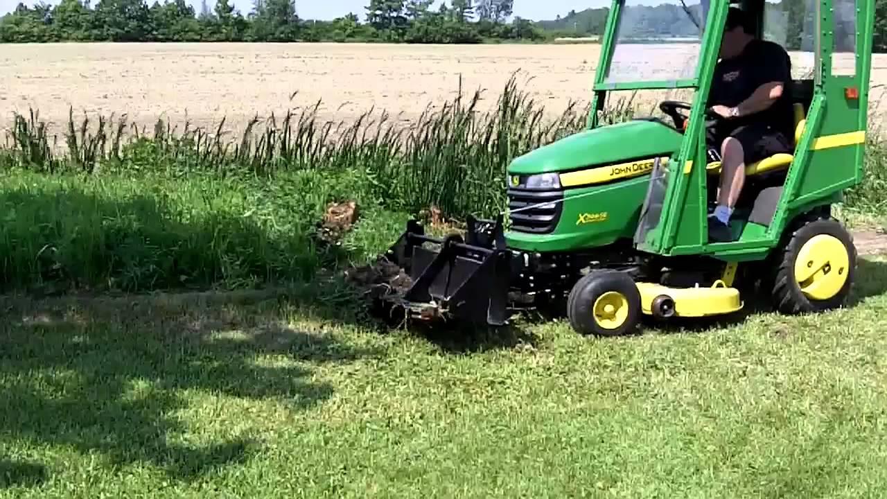 John Deere X300 Amp 40 Inch Tractor Shovel Youtube
