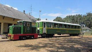 Hungary: Balatonfenyves to Somogyszentpál 760mm MAV narrow gauge railway near lake Balaton