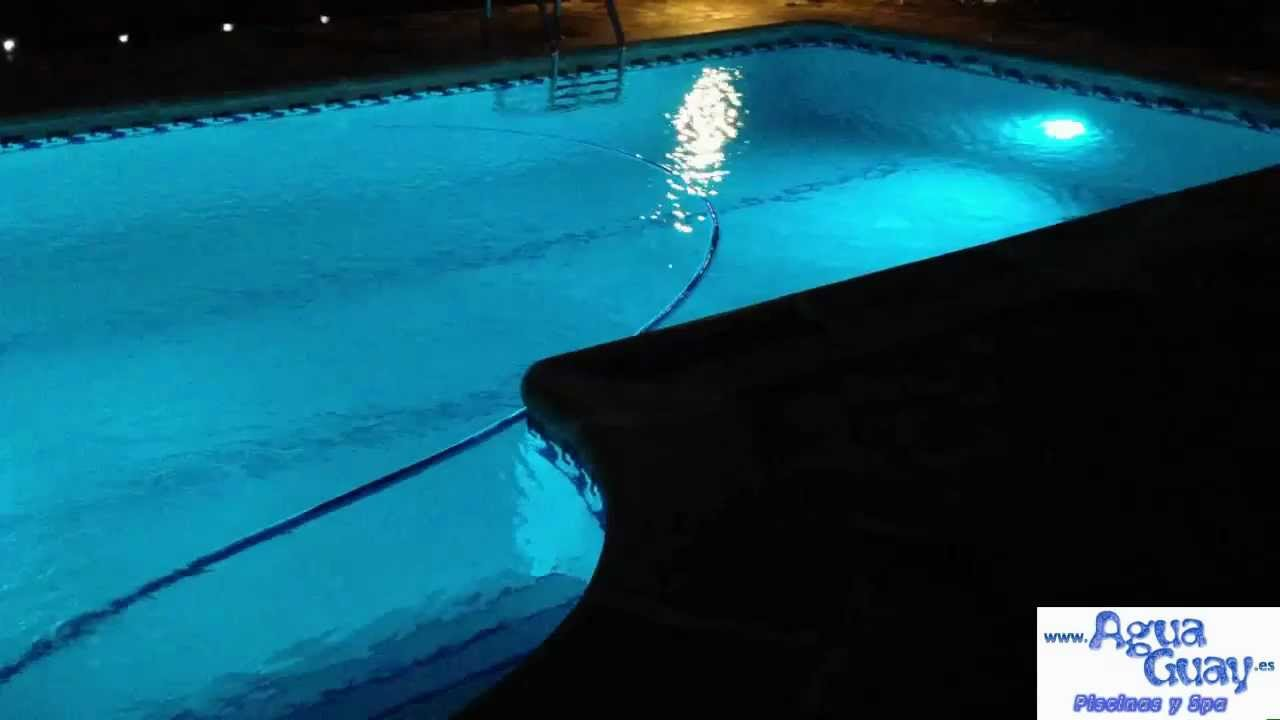 Foco led color rgb piscina youtube - Foco led piscina ...