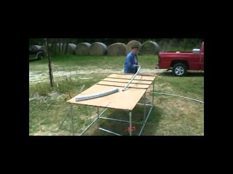 How to build a 20 foot wide Hoop House / Greenhouse