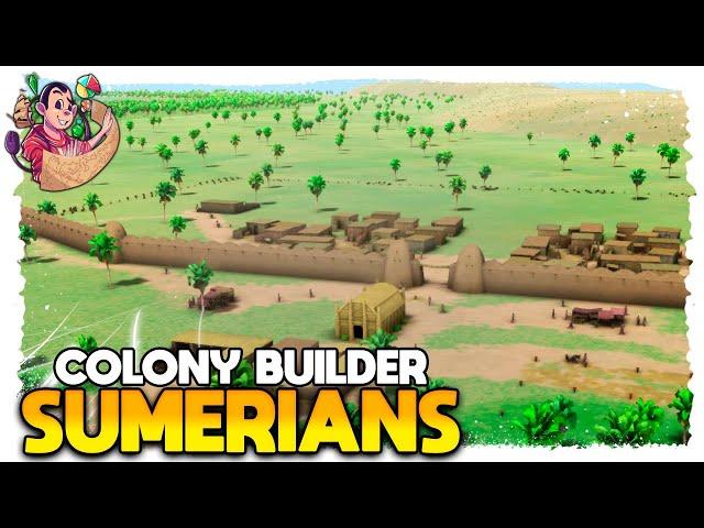 COLONY BUILDER ESTILO BANISHED | Sumerians #01b - Gameplay PT BR