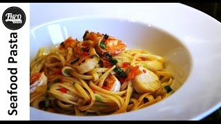 Super Fast Seafood Pasta In 10minutes (with A Hint Of Greek!) By Theo Michaels