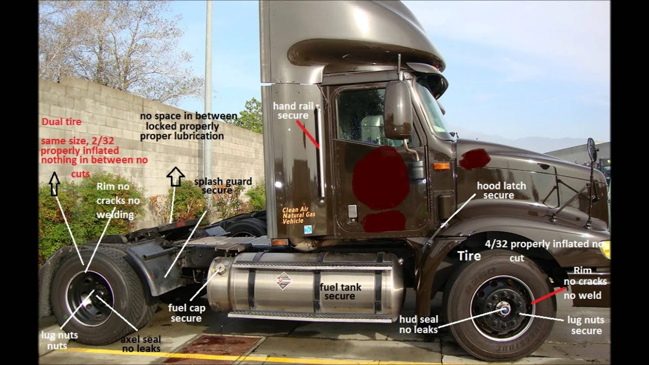 Cdl Pre Trip Inspection Diagram Rockford Fosgate R2 Wiring Ny New York State Youtube