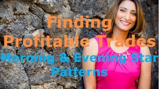 Profitable trades with morning star and evening star chart patterns