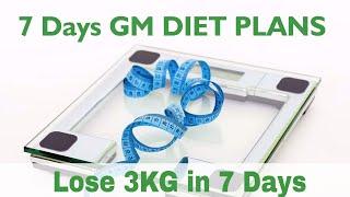 7 Day GM Diet Plan to lose weight 3kg in Week | Best Diet Plan To Lose Weight | Dt. Pallavi Jassal