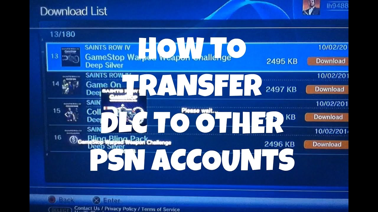 how to delete download list ps3