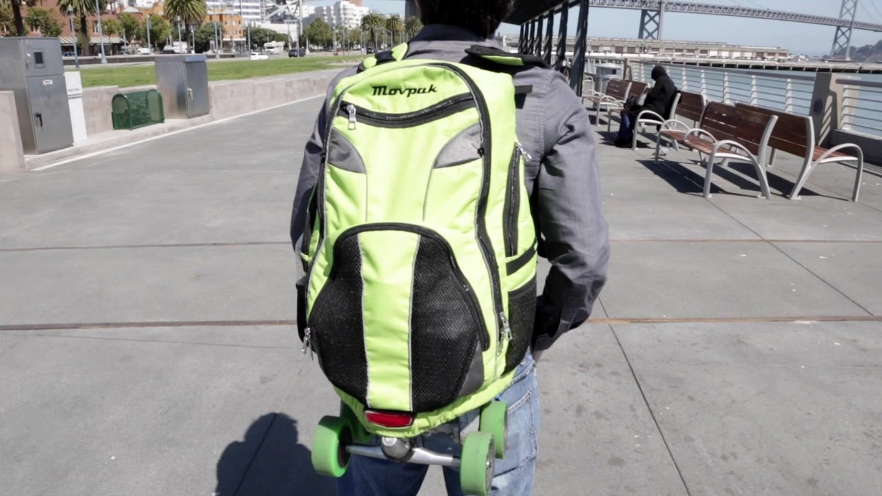 Movpak Electric Skateboard Backpack - YouTube 0d2814e602