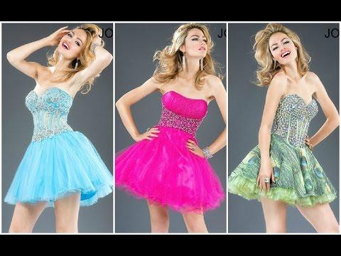 Modernos vestidos cortos para quinceañeras ♥
