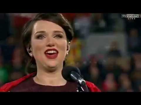 Elin Tomos - Welsh Anthem, All Blacks vs Wales, Wellington 18/06/16