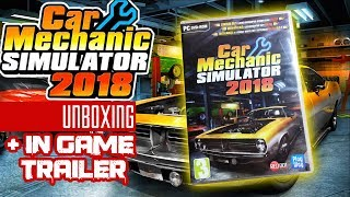 Car Mechanic Simulator 2018 PC DVD Case Unboxing & Overview + In Game Trailer