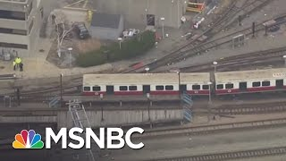 Boston Train Leaves Station Without Driver | MSNBC
