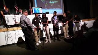 W4SVI & Booker T Washington High School contact with International Space Station 2016